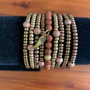 Gold stretchy stack bracelets